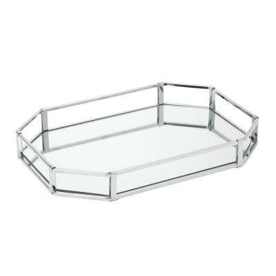 Octagon Design Mirror Vanity Tray