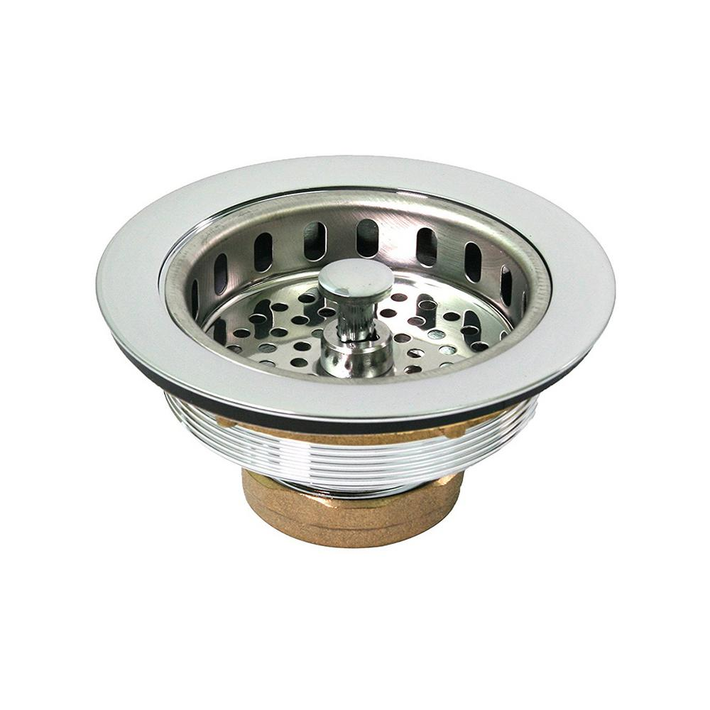 the plumbers choice 3 12 in 4 in heavyduty kitchen - Kitchen Sink Strainer Basket