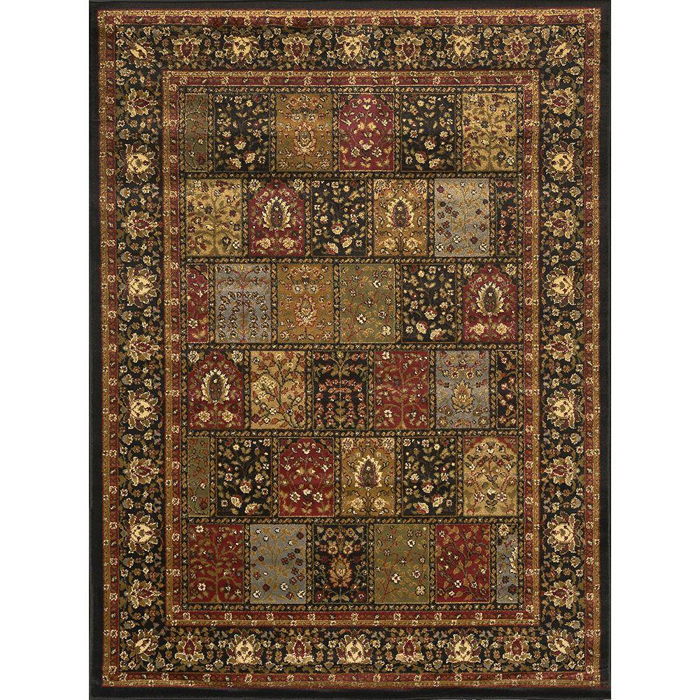 Home Dynamix Royalty Black 4 Ft X 5 Indoor Area Rug