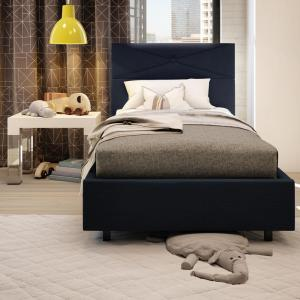 Brilliant Dark Navy Blue Upholstered Twin Size Kids Bed 14505 39 Hk The Home Depot