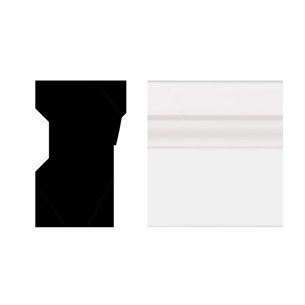 null 2448 1-1/4 in. x 2 in. x 8 ft. PVC Composite White Brick Moulding