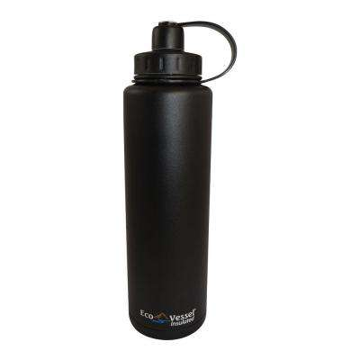 BIGFOOT 45 oz. Triple Insulated Bottle with Screw Cap - Black Shadow (Powder Coat)