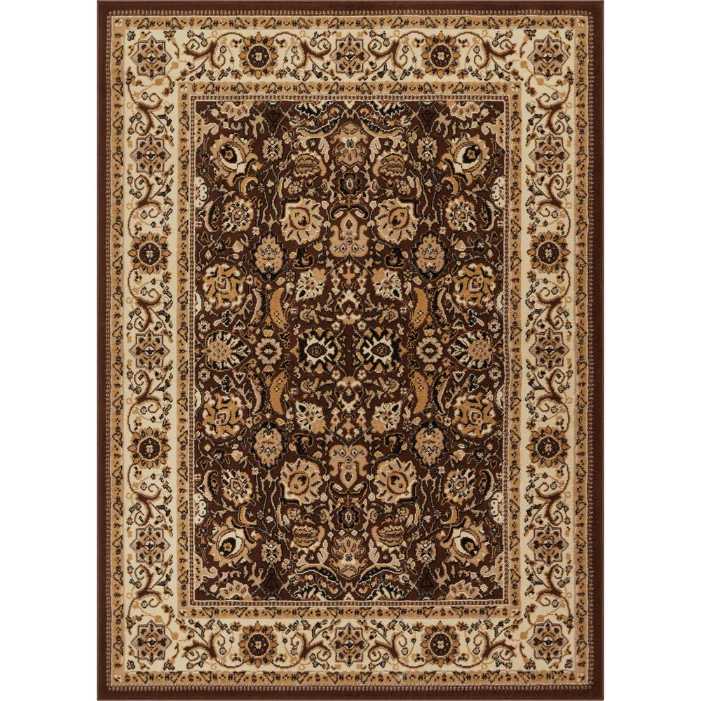 Well woven persa tabriz 7 ft 10 in x 9 ft 10 in traditional oriental french country brown area rug