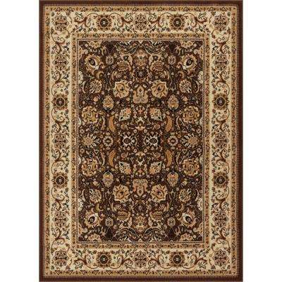 Persa Tabriz 9 ft. 3 in. x 12 ft. 6 in. Traditional Oriental Persian Brown Area Rug