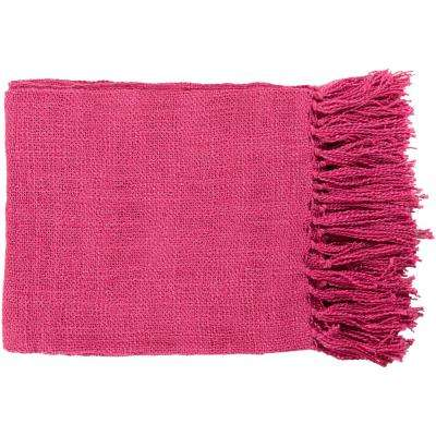 Madelyn Magenta Acrylic Throw