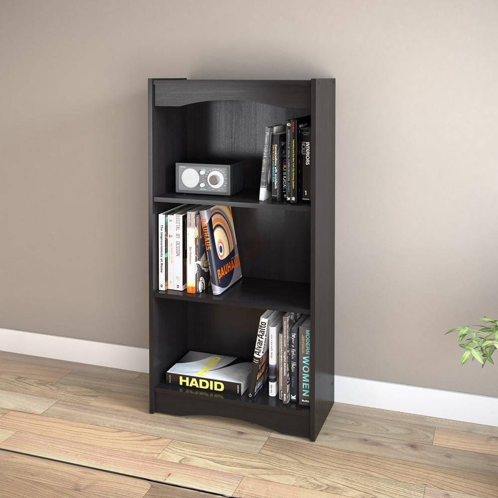 Midnight Black Tall Bookcase