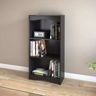 Hawthorn 48 in. Midnight Black Tall Bookcase
