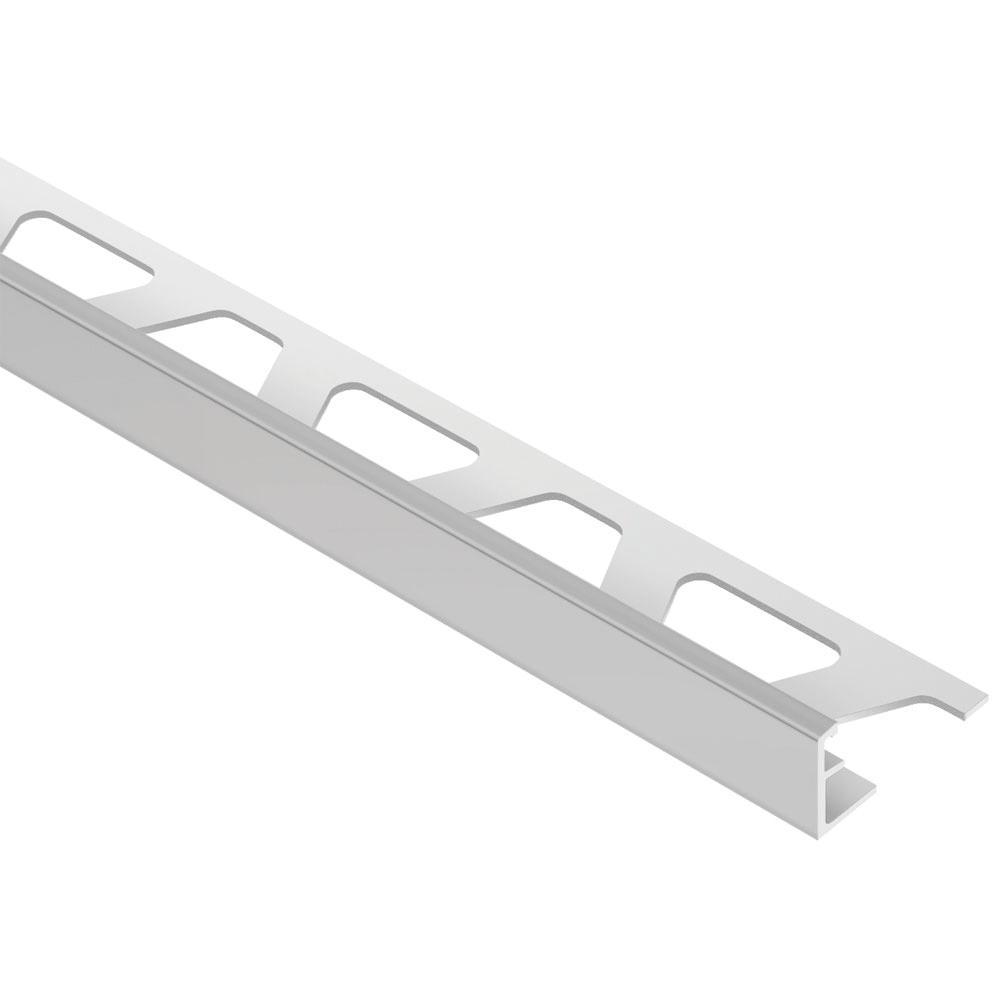 Jolly Classic Grey Coated Aluminum 7/16 in. x 8 ft. 2-1/2 in. Metal Tile Edging Trim