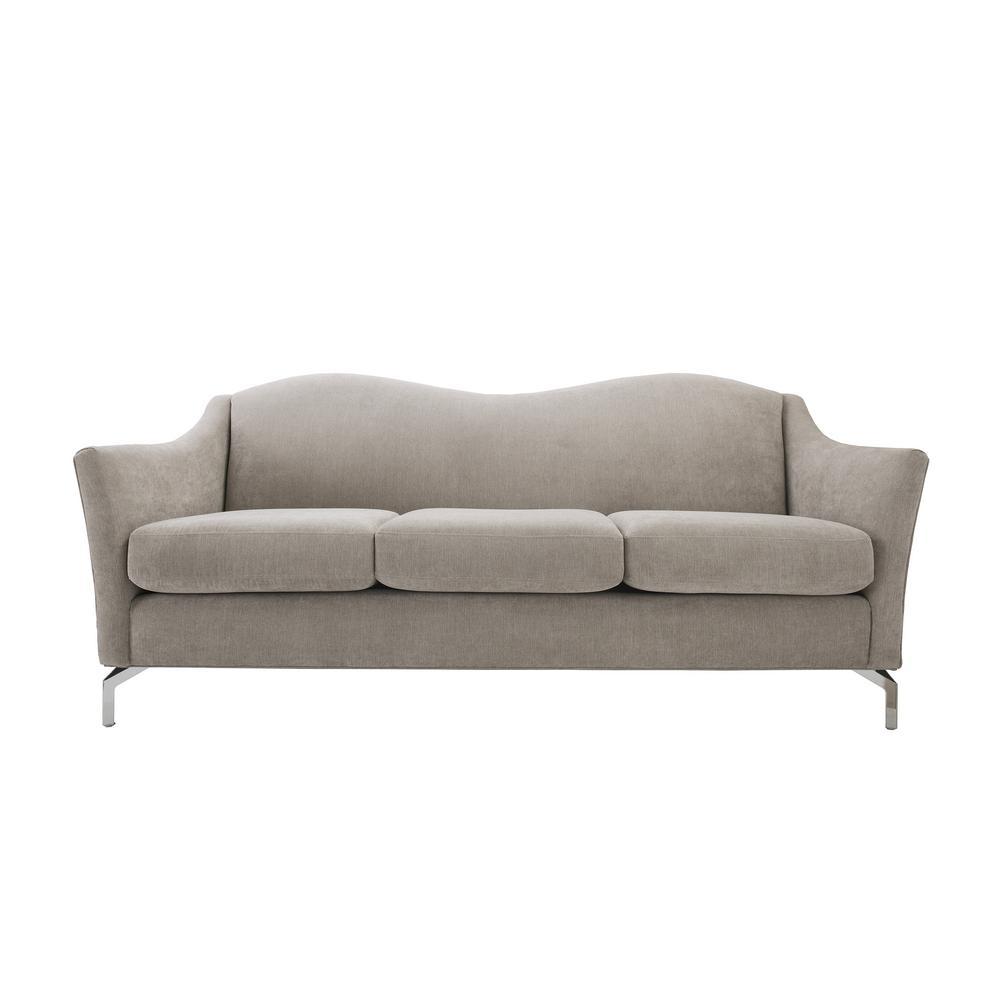 Sandy Wilson Vincent Silver Grey Camelback Sofa
