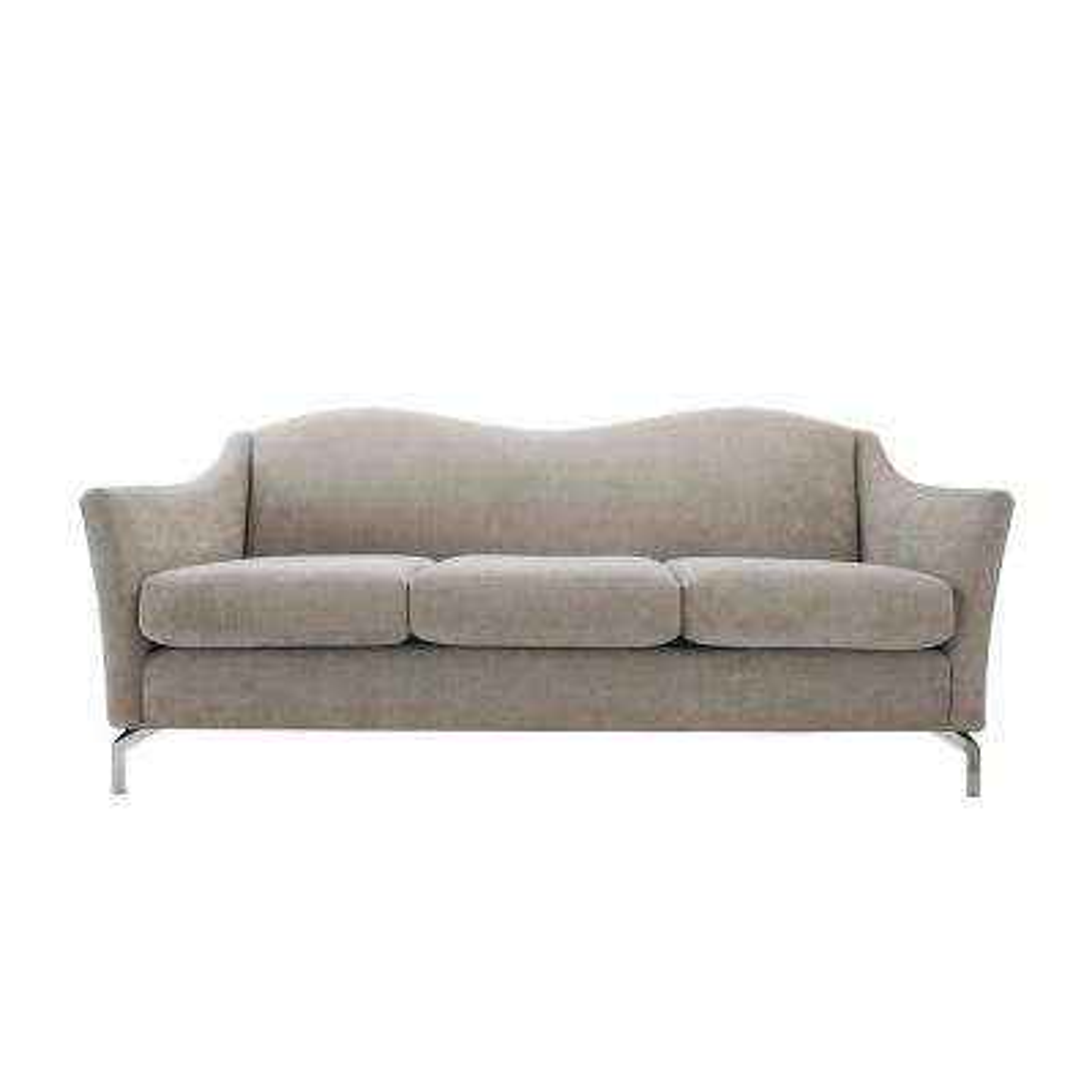 Vincent Silver Grey Camelback Sofa