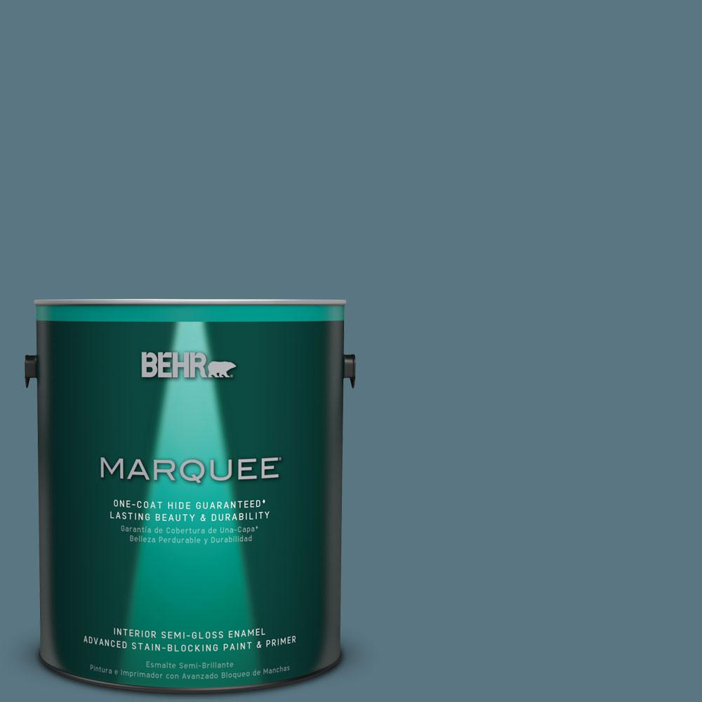 Charming #MQ5 26 Hampton Surf One Coat Hide Semi Gloss Enamel Interior Paint 345301    The Home Depot