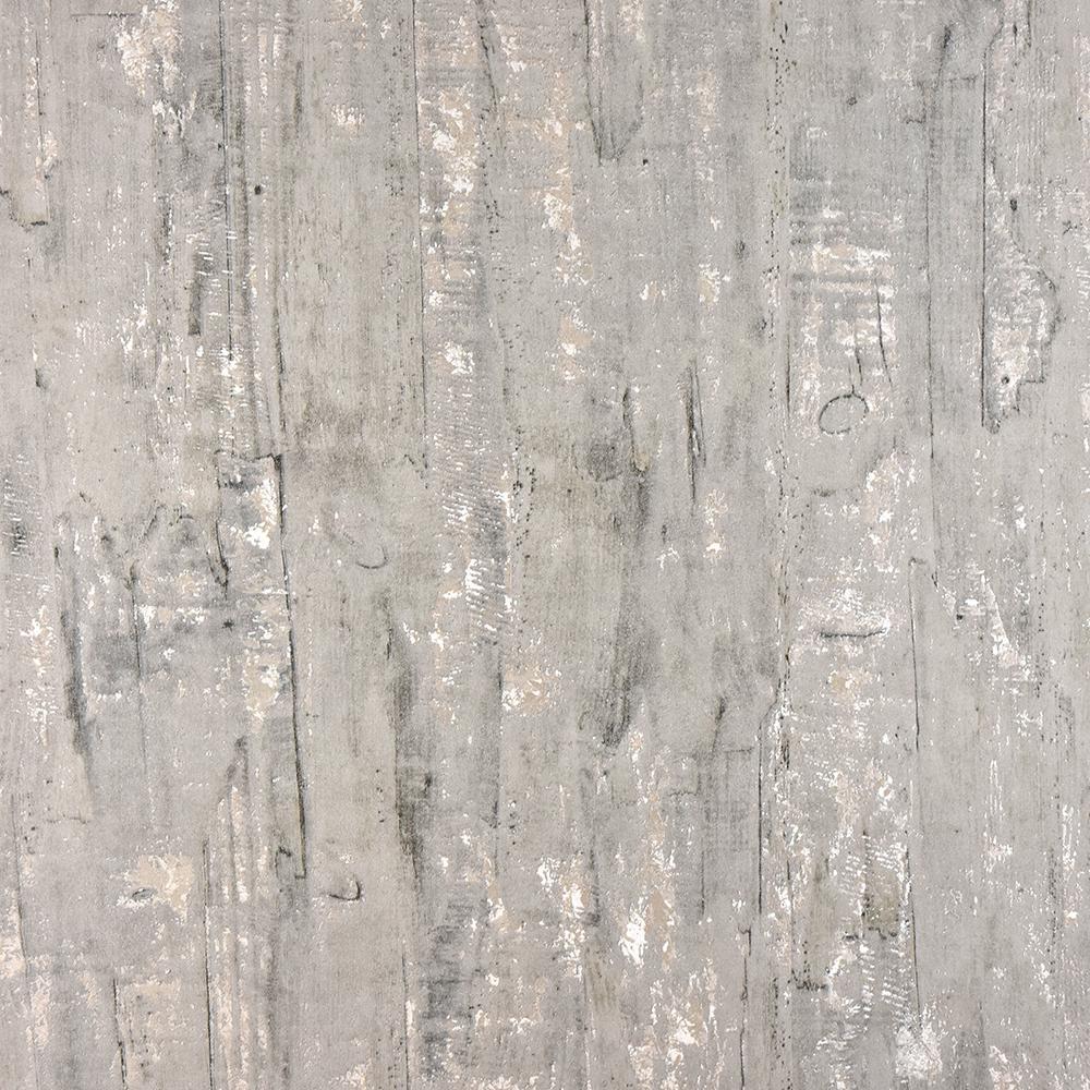 57.8 sq. ft. Lindens Grey Wood Wallpaper