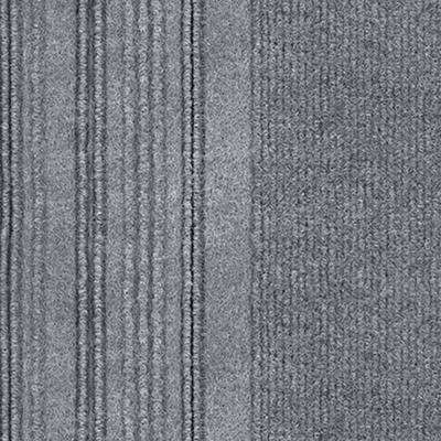 First Impressions Barcode Rib Sky Grey Texture 24 in. x 24 in. Carpet Tile (15 Tiles/60 sq. ft./case)