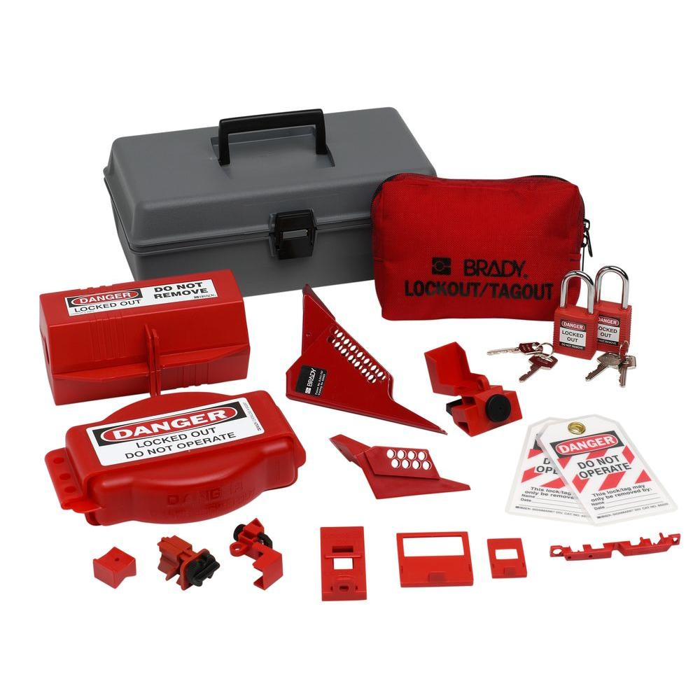 Combination Lockout Toolbox with Safety Padlocks and Tags