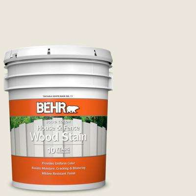 5 gal. #BXC-32 Picket Fence White Solid Color House and Fence Exterior Wood Stain