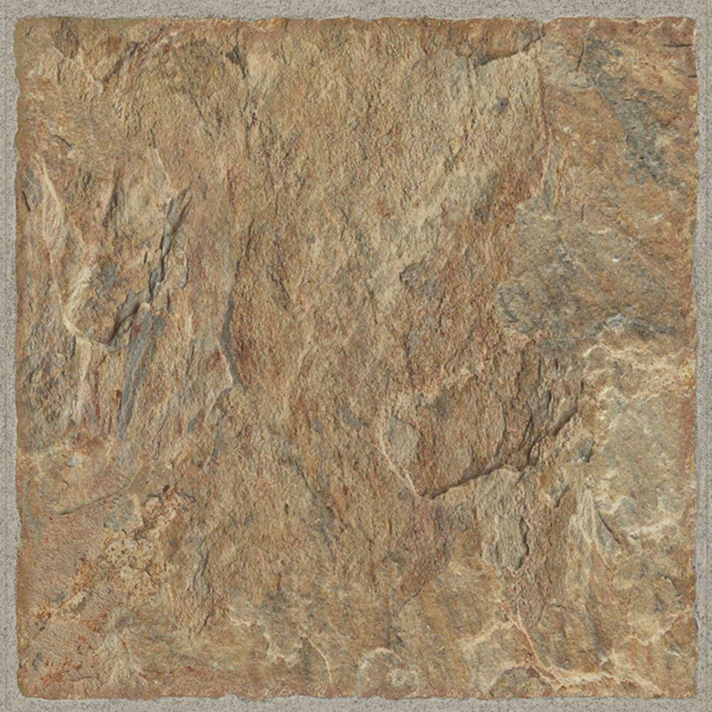 TrafficMASTER Take Home Sample - Red Rock Luxury Vinyl Tile Flooring - 4 in. x 4 in.