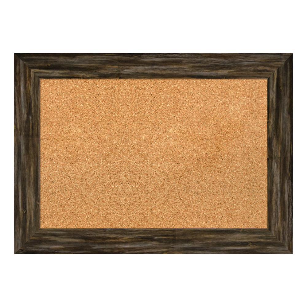 Fencepost Brown Narrow Framed Cork Memo Board