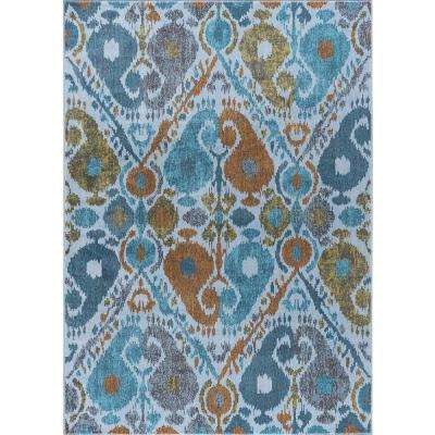Aria Aqua 5 ft. 3 in. x 7 ft. 3 in. Area Rug