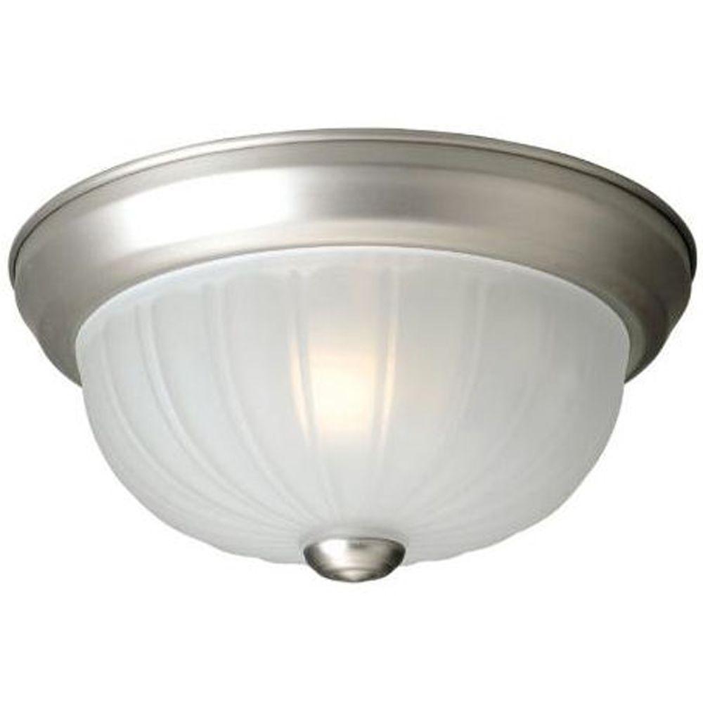 Stewart 1-Light Brushed Nickel Incandescent Ceiling Flush Mount