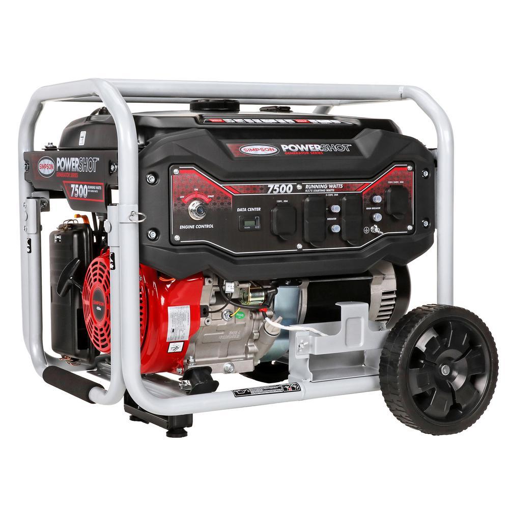 PowerShot SPG7593E Portable 7500W/9375W Generator