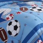 My World Sports and Stars Blue Queen Comforter Set