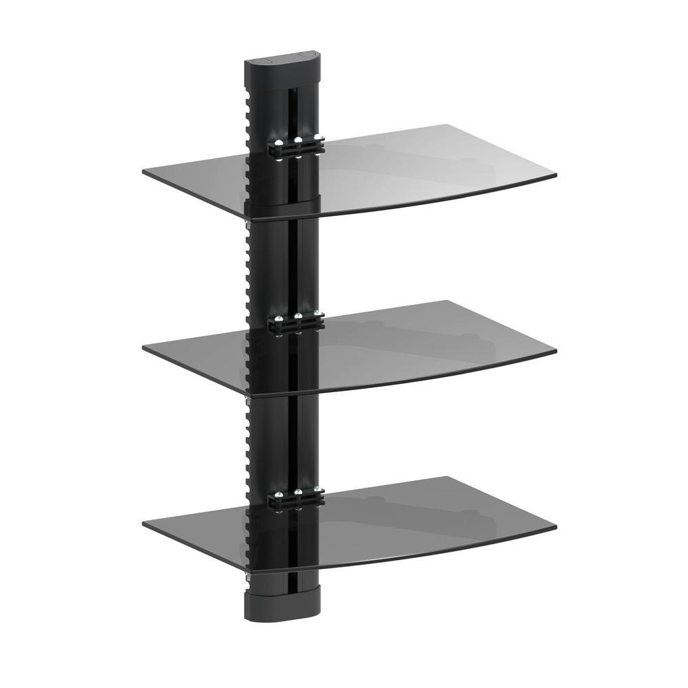 Triple Media Component Wall Mount 17.6 lb. Load Capacity (per Shelf)