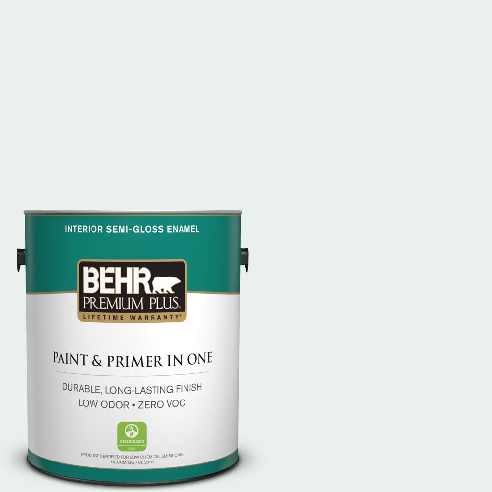 1-gal. #470E-1 Breakwater White Zero VOC Semi-Gloss Enamel Interior Paint
