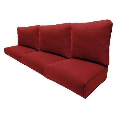Woodbury 57 x 24.75 Outdoor Sofa Cushion in Standard Chili