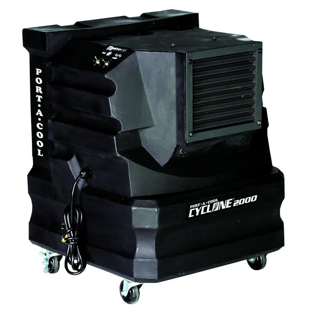 PORTACOOL Cyclone 2000 CFM 2-Speed Portable Evaporative Cooler for 500 sq. ft.