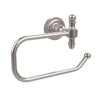 Retro Dot Collection European Style Single Post Toilet Paper Holder in Satin Nickel