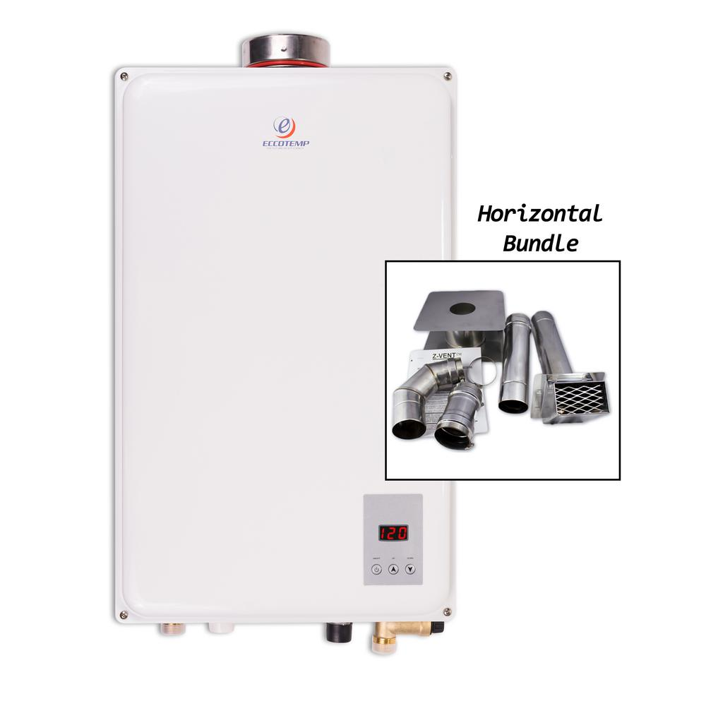 45HI-NG Natural Gas Tankless Water Heater Horizontal Bundle