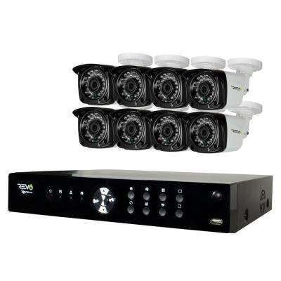 Aero 8-Channel HD 1TB Surveillance DVR with 8 Indoor/Outdoor Cameras