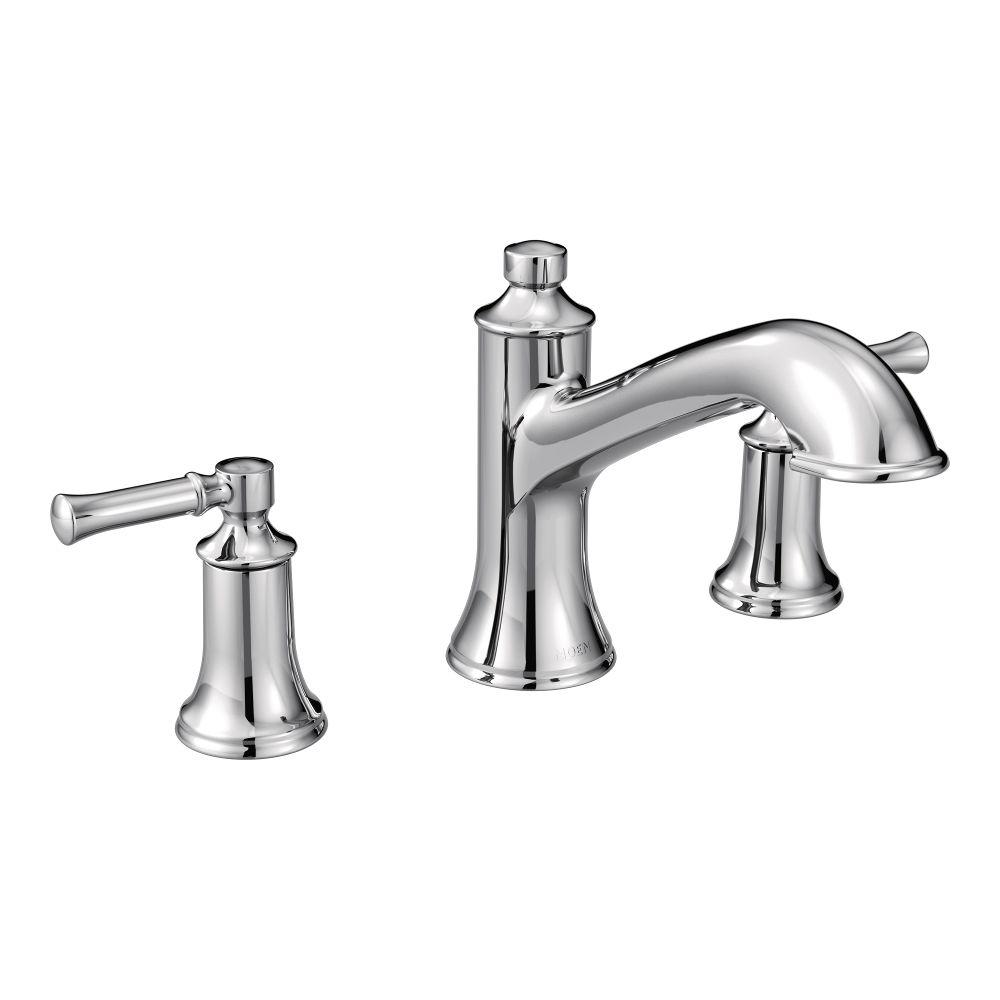 Moen Dartmoor 8 In Widespread 2 Handle Roman Tub Bathroom Faucet In Chrome Valve Not Included