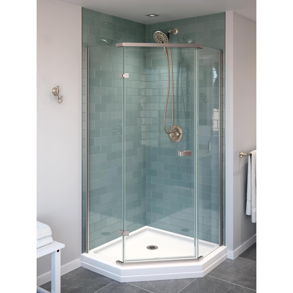 Delta Classic 38 In W X 72 H Neo, Corner Shower Frameless Glass Doors