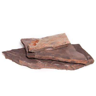"""18"""" x 12"""" x 1.97"""" 30 sq. ft. Mexican Rose Natural Flagstone for Landscape, Gardens and Pathways"""
