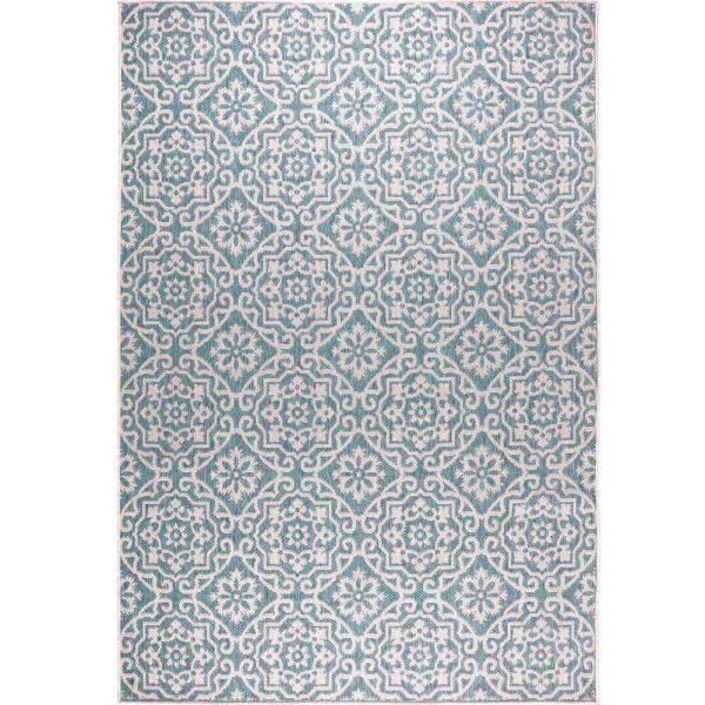 Patio Country Blue Gray 6 ft. 6 in. x 9 ft. 2 in. Indoor/Outdoor Area Rug