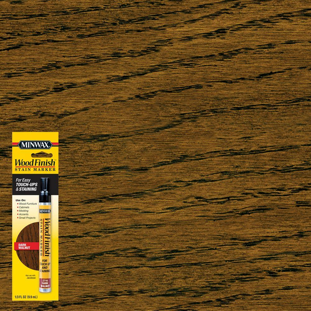 Minwax 1/3 oz. Wood Finish Dark Walnut Stain Marker