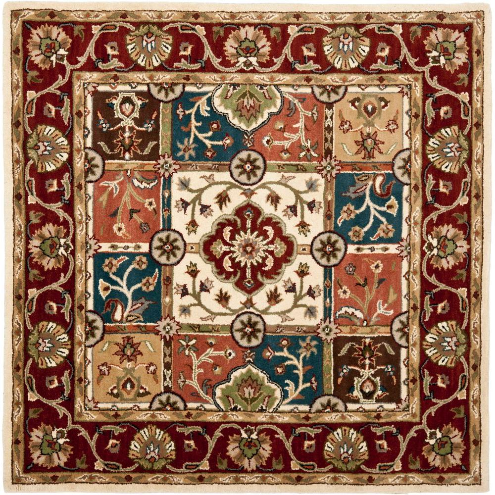 Heritage Multi/Red 6 ft. x 6 ft. Square Area Rug