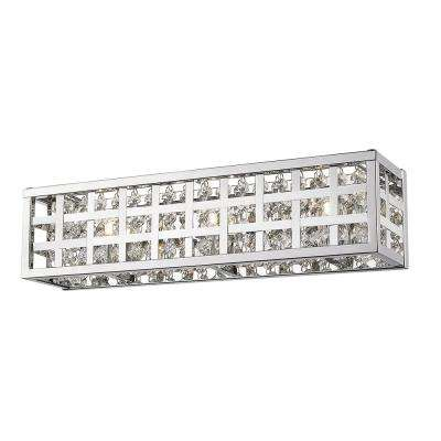 Logan Collection 18.50. in. 3-Light Chrome Vanity Light