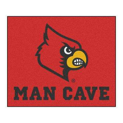 University of Louisville Red Man Cave 5 ft. x 6 ft. Area Rug