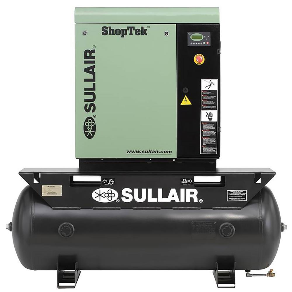 ShopTek 10 HP 3-Phase 208-Volt 80 gal. Stationary Electric Rotary Screw