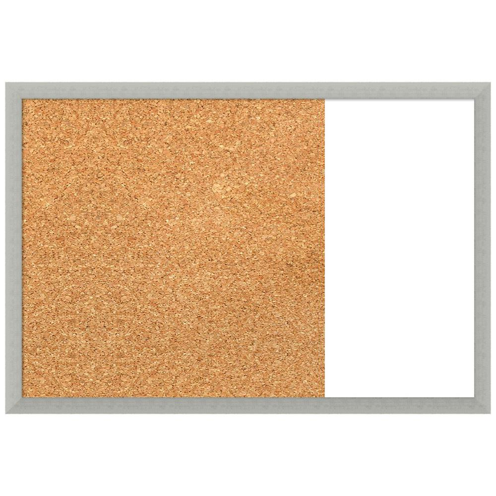 Amanti Art Silver Leaf 29 in. x 20 in. Cork and White Dry Erase Wood Combo Memo Board was $149.95 now $74.97 (50.0% off)