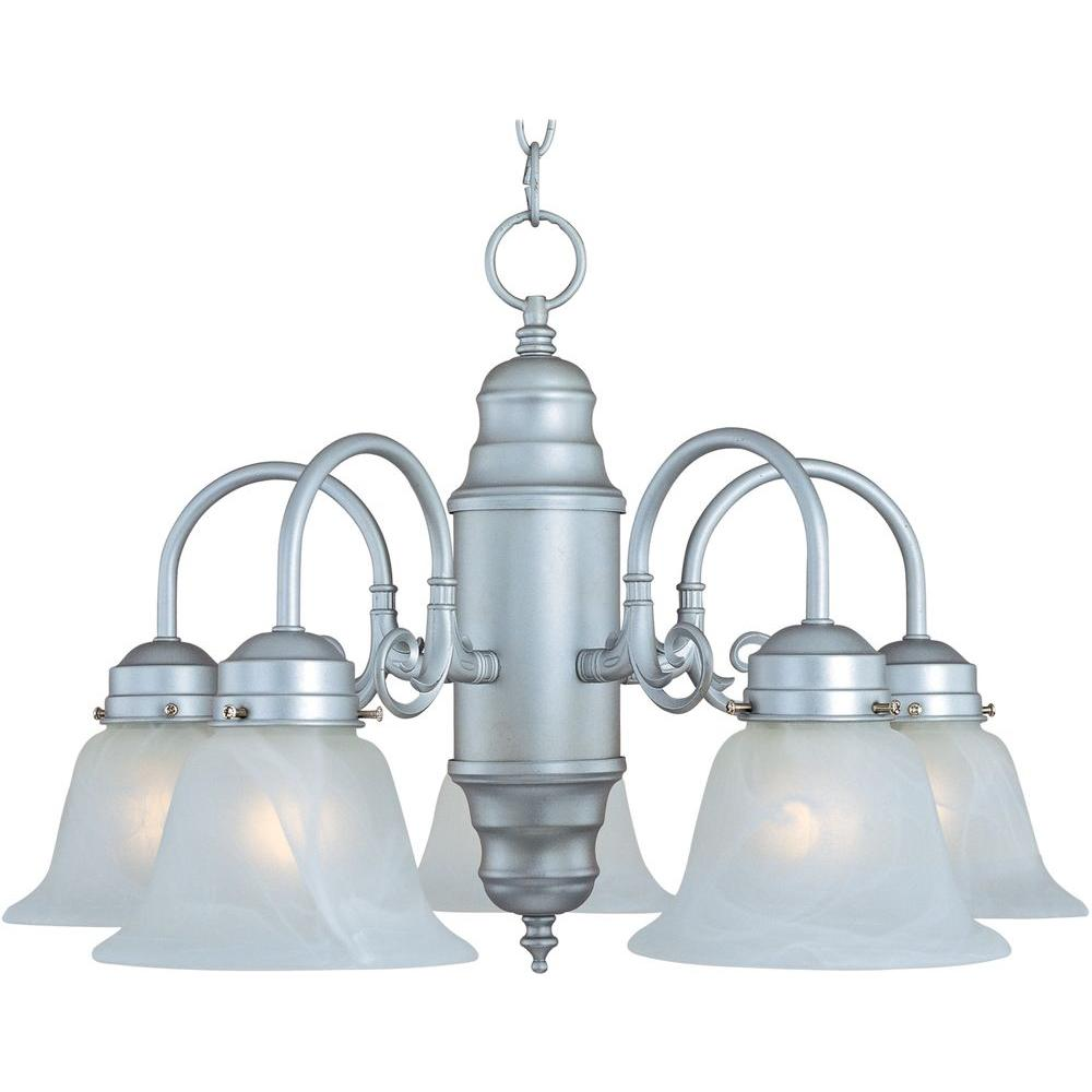 Maxim lighting builder basics 5 light satin nickel chandelier maxim lighting builder basics 5 light satin nickel chandelier mozeypictures Images