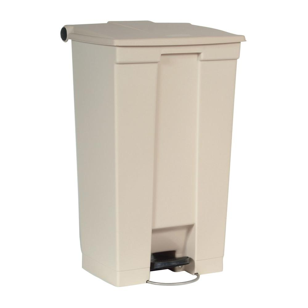 Rubbermaid Commercial Products 23 Gal. Beige Fire-Safe Mobile Step ...