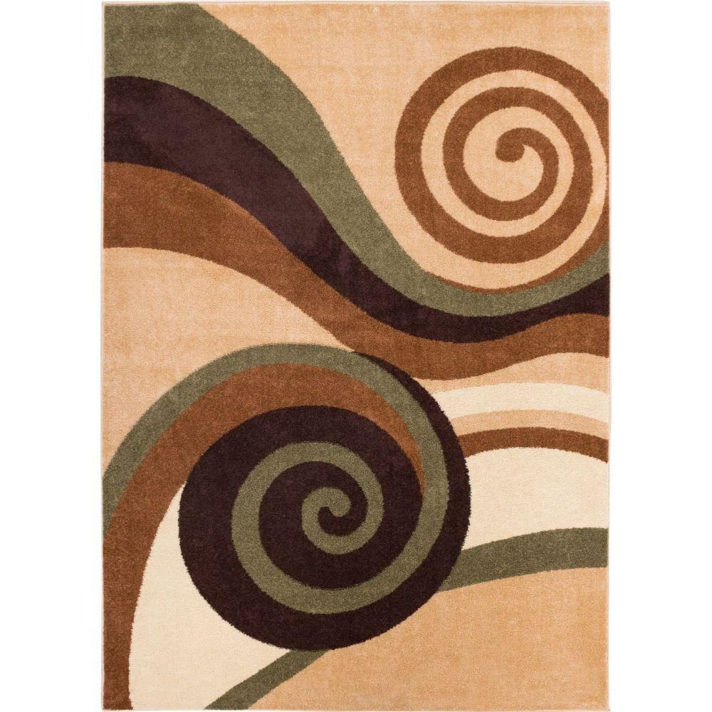 Well Woven Sydney Zugilly Green 7 ft. 10 in. x 10 ft. 6 in. Modern Area Rug