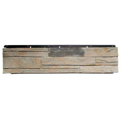 8 in. x 72 in. Versetta Stone Ledgestone Flat Mission Siding (6-Bundles per Box)
