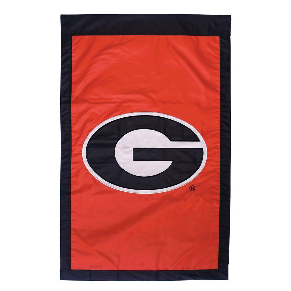 Evergreen Enterprises NCAA 28 in. x 44 in. Georgia 2-Sided Flag