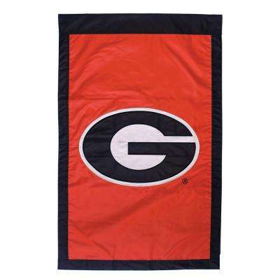 NCAA 28 in. x 44 in. Georgia 2-Sided Flag