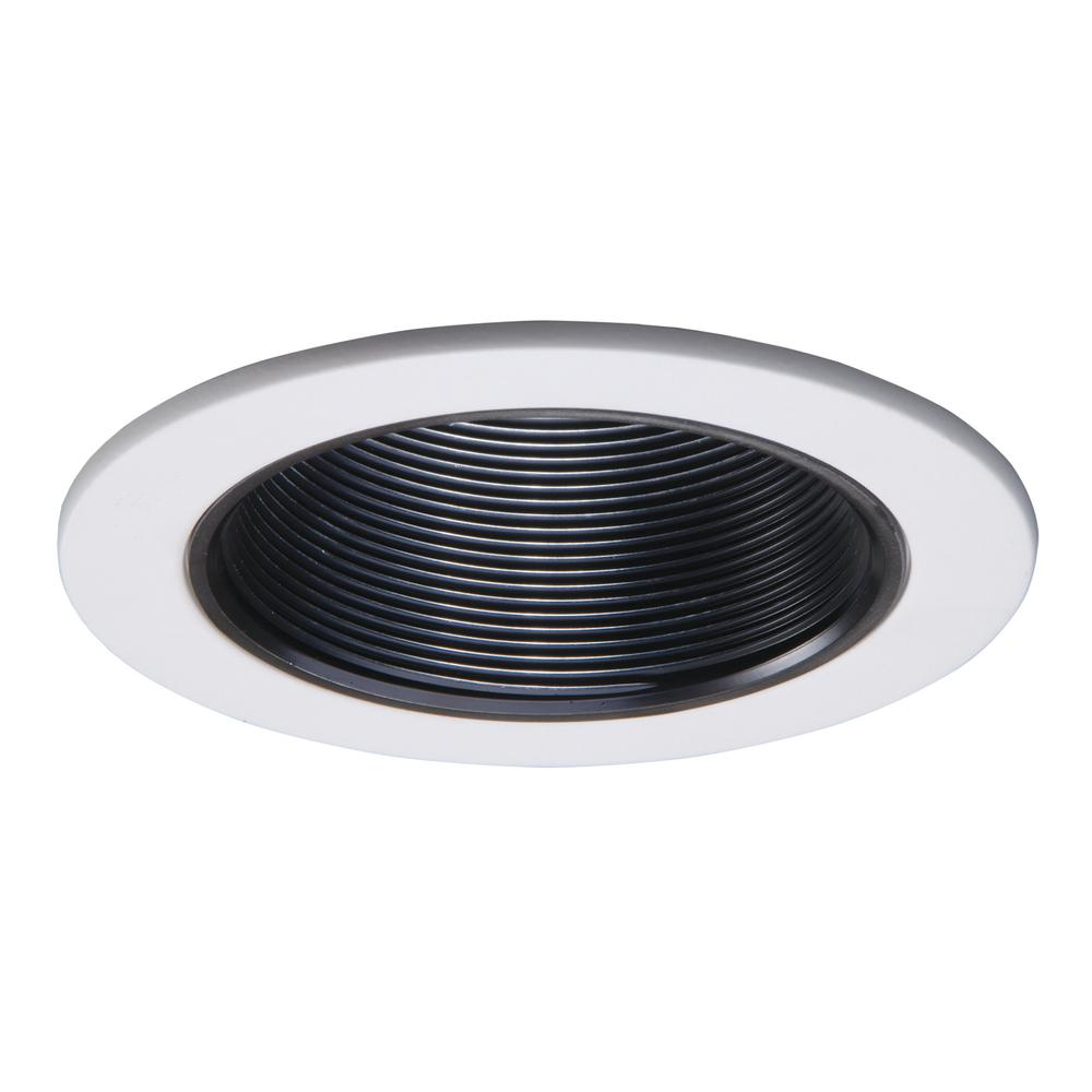 Halo 993 Series 4 in. Black Recessed Ceiling Light Trim with Coilex Baffle