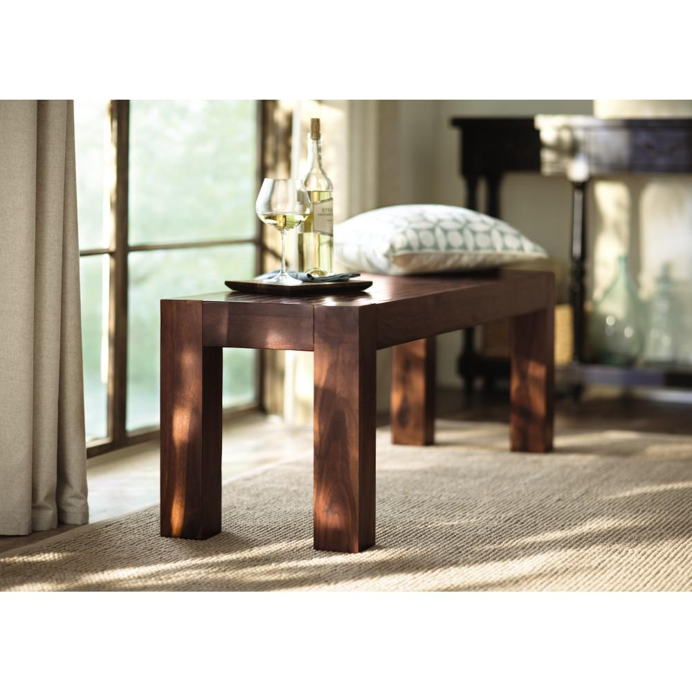 Home Decorators Collection Edmund Distress Walnut Dining Bench
